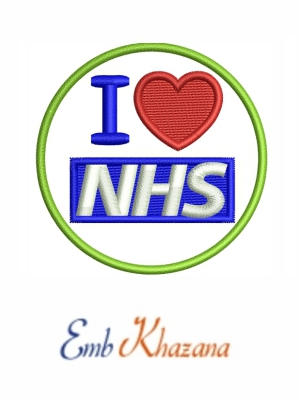 love Nhs Logo embroidery design