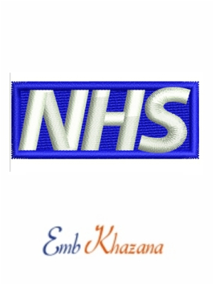 Nhs Logo embroidery design
