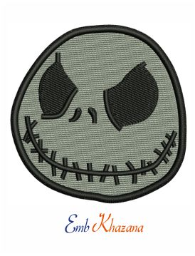 Nightmare Before Christmas Jack Head embroidery design