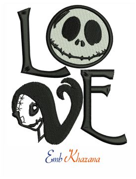 Nightmare Before Christmas Embroidery Design