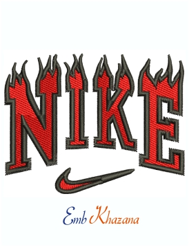 Nike Fire Logo Machine Embroidery Design