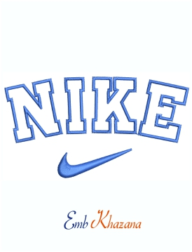 Nike Blue Logo And Symbol Machine Embroidery Design
