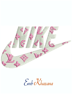 Nike Louis Vuitton Swoosh Logo Machine Embroidery Design