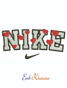 Nike Heart Logo And Symbol Machine Embroidery Design