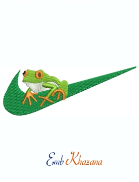 Nike With Frog Logo Machine Embroidery Design