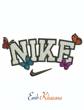 Nike Butterfly Logo and symbol Machine Embroidery Design