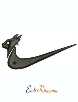 Nike Symbol Machine Embroidery Design