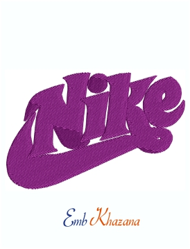 Nike Purple Logo machine embroidery design