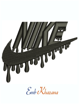 Nike Dripping logo and symbol machine embroidery design