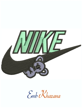 Nike Quala Logo Machine Embroidery Design