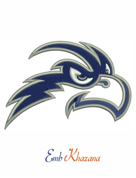 North Florida Ospreys football logo embroidery design