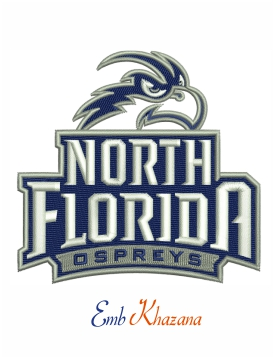 north florida ospreys logo embroidery design