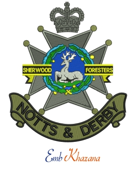 Notts And Derby Regiment Embroidery Design