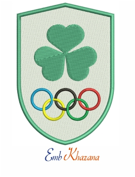 Olympic Federation Ireland embroidery design