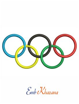 Olympic symbols embroidery design