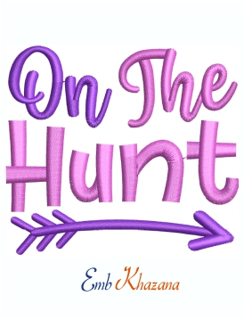 On The Hunt Machine Embroidery Design