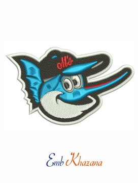 Orioles logo embroidery design