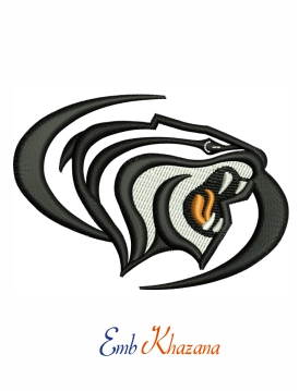 Pacific Tigers logo embroidery design