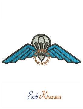 Parachute Wings EMBROIDERY DESIGN