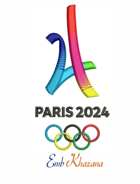 Paris 2024 Summer Olympics embroidery design