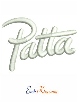Patta Logo embroidery design