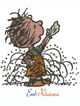 Peanuts Pigpen Machine Embroidery Design