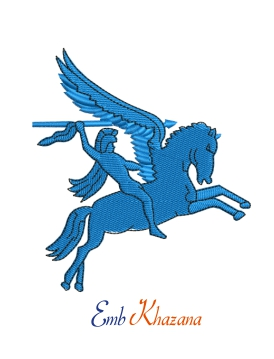 Pegasus Flying Horse Embroidery Design