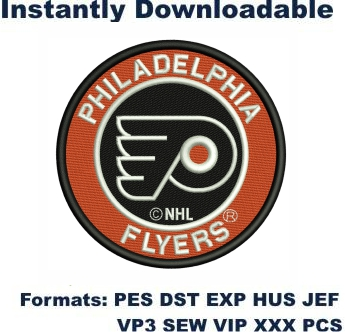 Philadelphia Flyers Logo Embroidery Designs