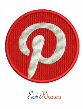 Pinterest logo embroidery design