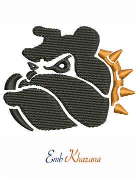 Pit Bull Logo Embroidery Design