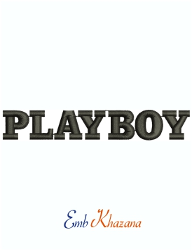 Playboy Magazine Logo Machine Embroidery Design