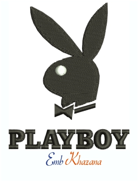 Playboy Bunny Logo Machine Embroidery Design