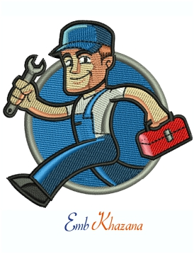 Plumber Handyman Machine Embroidery design