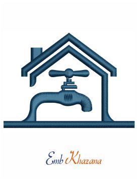 Plumbing Icon embroidery design