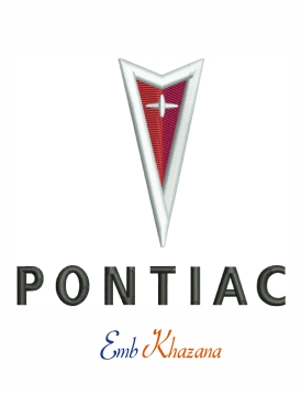 Pontiac Car Logo Embroidery Design