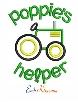 Poppies Helper Embroidery Design