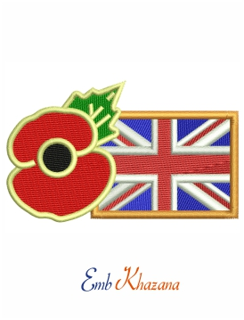 Poppy union jack flag