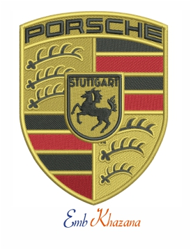 porsche logo embroidery design