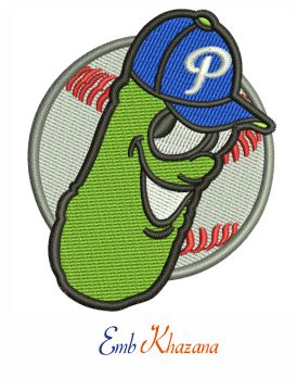 Portland Pickles logo embroidery design