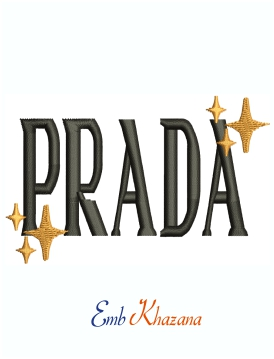 Prada Star Logo Embroidery Design