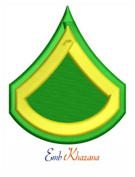 Private first class insignia embroidery design