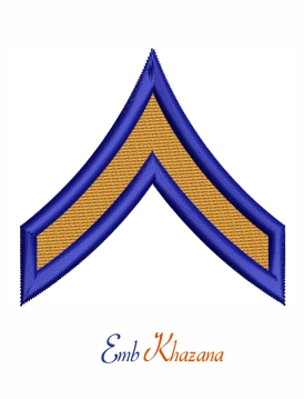 Private rank insignia embroidery design