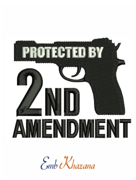 Protected By 2nd Amendment Logo