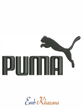 Puma Logo Embroidery Digital