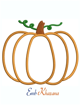 Cute Pumpkin Machine Embroidery Design