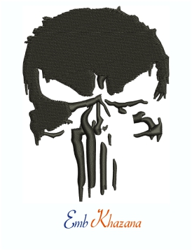 Punisher Skull Marvel Hulk Grunge Machine Embroidery Design