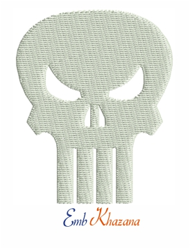 Punisher Skull logo embroidery pattern