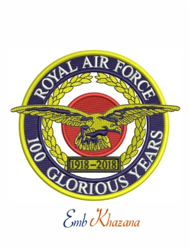RAF Royal Air Force Crest 100 Glorious year