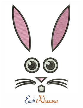 easter rabbit face