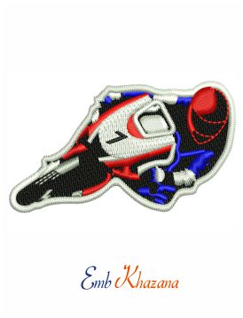 Racing Motorcycles embroidery design